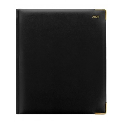 Roma Quarto Vertical Week to View with Appointments Diary 2022 Black